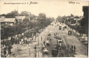 Vienna, Wien II. Prater, Austellungsstrasse / park, street, promenade, Verlag P. Ledermann (EK)