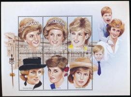 1997 Diana hercegnő kisív Mi 1829-1834