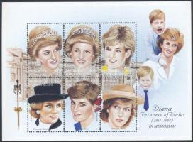 1997 Diana hercegnő felülnyomott kisív Mi 1892-1897