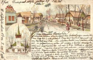 1896 (Vorläufer!) Budapest, Ezredéves Országos Kiállítás, Magyar utca és templom, Posner és Fia, litho 2 Kr Ga. s: Cserna (EK)