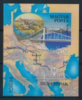 1985 Duna-hidak vágott blokk (3.500)