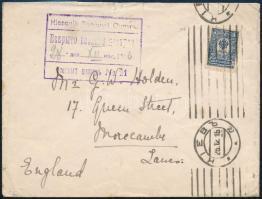 1916 Levél Angliába küldve