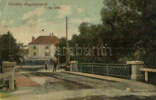 Mosonmagyaróvár, Magyaróvár; Régi sóház, híd, kiadja Pingitzer Ignác (EK)