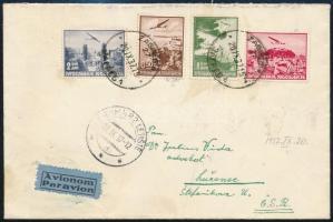 1937 Légi levél repülő bélyegekkel bérmentesítve