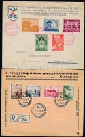 1936-1940 4 db levél, közte 3 db ajánlott