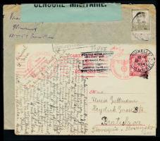1940-1941 1-1 db cenzúrázott levél és levelezőlap