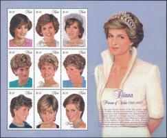 1997 Diana hercegnő kisív Mi 1158-1166