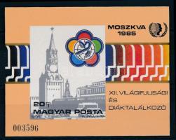 1985 VIT (II.) vágott blokk (5.500)