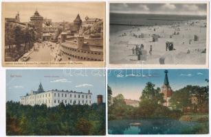 54 db RÉGI lengyel városképes lap, vegyes minőség / 54 pre-1945 Polish town-view postcards, mixed quality