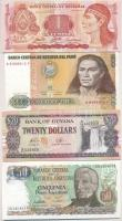 Vegyes: Argentína 1983-1985. (?) 50P + Peru 1987. 500I + Honduras 2006. 1L + Guyana DN 20$ T:I Mixed: Argentina 1983-1985. (?) 50 Pesos + Peru 1987. 500 Intis + Honduras 2006. 1 Lempira + Guyana DN 20 Dollars C:UNC