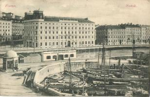 Fiume, Susak; kikötő, hajók, üzletek / port, ships, shops (EK)