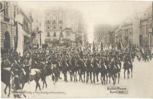 1916 Budapest, IV. Károly király és Zita királyné koronázása, Beller Rezső felvétele - 2 db régi képeslap / - 2 pre-1945 postcards