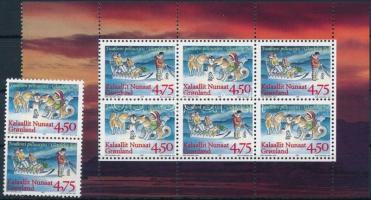 Karácsony bélyegfüzetlap + sor Christmas stamp-booklet sheet + set