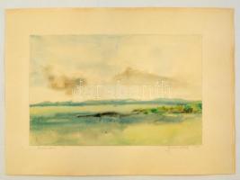 Buday József (?-): Balaton. Akvarell, papír, jelzett, 20×31 cm