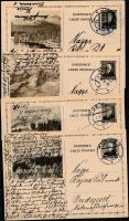 Csehszlovákia 10 db díjjegyes levelezőlap az 1920-as, 1930-as évekből