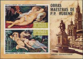 1973 Rubens aktfestmény vágott blokk Mi 79