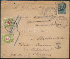 1894 Portós levél Svájcba küldve