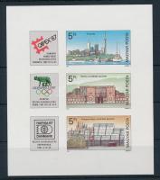 1987 Bélyegkiállítások (II.) vágott blokk (3.000)
