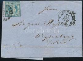 1864 Levél 3 franco bérmentesítéssel AUGSBURG