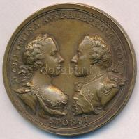 Ausztria 1766. Mária Krisztina főhercegnő és Albert Kázmér szász-tescheni herceg házassága Br emlékérem replika. Szign.: A. W. (Anton Franz Wideman) (41mm) T:2 Austria 1766. Wedding of Archduchess Maria Christina and Albert Casimir, Duke of Teschen Br commemorative medal replica. Sign.: A. W. (Anton Franz Wideman) (41mm) C:XF