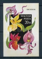 1987 Orchideák vágott blokk (7.000)