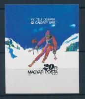 1987 Téli olimpia (VIII.) vágott blokk (3.700)