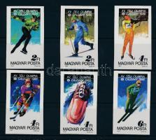 1987 Téli olimpia (VIII.) vágott sor (3.500)