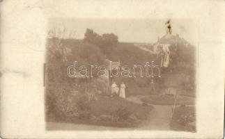 1909 Marosvásárhely, Targu Mures; udvar, kert / garden, photo (ragasztónyom / glue mark)