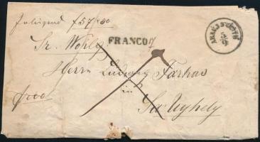 1865 Pénzes levél ABAÚJ SZÁNTÓ