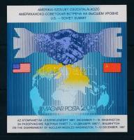 1987 Csúcstalálkozó vágott blokk (3.300)
