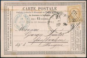 1876 Levelezőlap Pécsre küldve