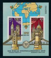 1989 Interparlamentáris Unió (II.) vágott blokk (4.500)