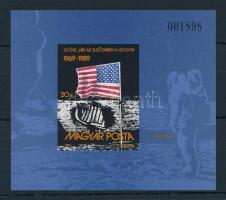 1989 Első ember a Holdon (II.) vágott blokk (3.500)