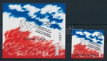 1989 A francia forradalom 200. évfordulója vágott bélyeg + blokk (6.500)