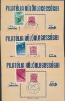 18 db klf emléklap alkalmi bélyegzésekkel az 1940-es évekből
