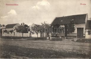Nemesmilitics, Svetozar Miletić; Fő utca, üzlet / main street, shop