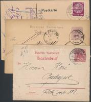 Deutsches Reich 3 db levelezőlap