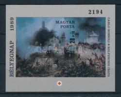 1989 Bélyegnap (62.) vágott blokk (7.000)