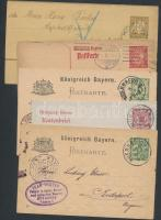 1896-1926 5 db régi díjjegyes levelezőlap