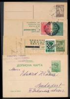 Szerbia, Jugoszlávia, Horvátország 4 db levelezőlap