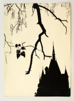 cca 1970 Gebhardt György (1910-1993): Őszi motívumok, feliratozott vintage fotóművészeti alkotás, 39x29 cm