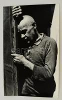 cca 1993 Kalocsai Rudolf: Cím nélkül, feliratozott vintage fotóművészeti alkotás, 39x24 cm