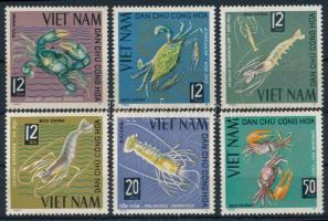 1965 Tengeri állatok fogazott és vágott sor Mi 387-392 (rozsda / stain)