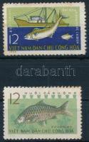 1963 Halászat sor Mi 262-263 (rozsda / stain)