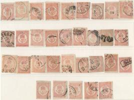 1871 32 db Könyvnyomású Hírlapbélyeg