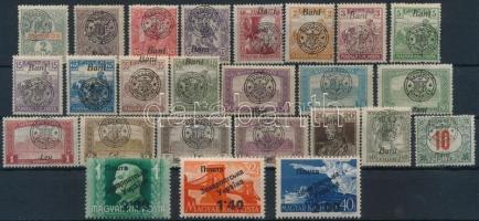 Nagyvárad 1919 22 db bélyeg + Ungvár II. 1945 3 db klf bélyeg, garancia nélkül