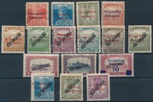Arad 1919 16 db megszállási bélyeg, garancia nélkül
