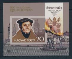 1983 Martin Luther vágott blokk (3.500)