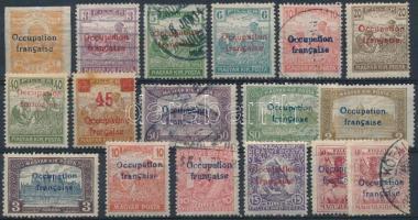 Arad 1919 17 db megszállási bélyeg, garancia nélkül