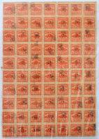 Szociáldemokrata Párt pártadó bélyeg 70 db-os ívdarab